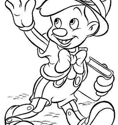 Dibujo Pinocho va al cole