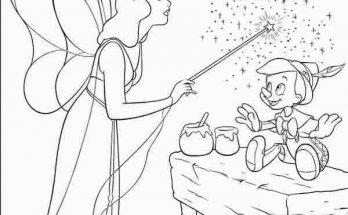 Dibujo Pinocho recibiendo la vida