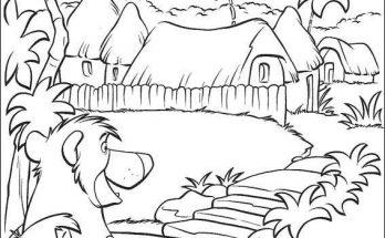 Dibujo Llegan al poblado