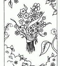 Dibujo Bonito Ramo de flores para colorear