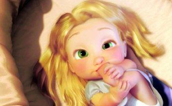 Dibujo Rapunzel bebé