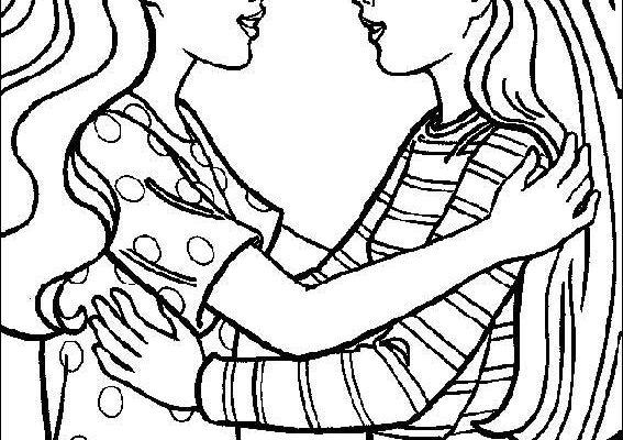 Dibujo Reencuentro de dos amigas