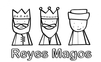 Dibujo Tres Reyes Magos de chocolate