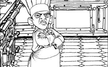 Dibujo El chef Skinner