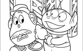 Dibujo El Señor Potato y Green Alien