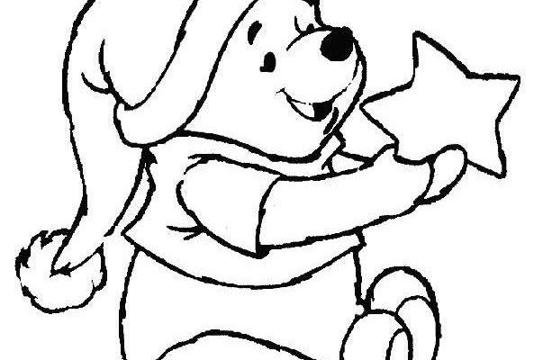 Dibujo Winnie The pooh y la Navidad