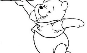 Dibujo Winnie The Pooh y su avión de papel