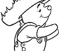 Dibujo Winnie ayuda en la granja