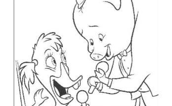 Dibujo Abby Patosa y Runt Benjamón