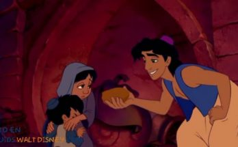Dibujo Aladin ofreciendo comida a los pobres
