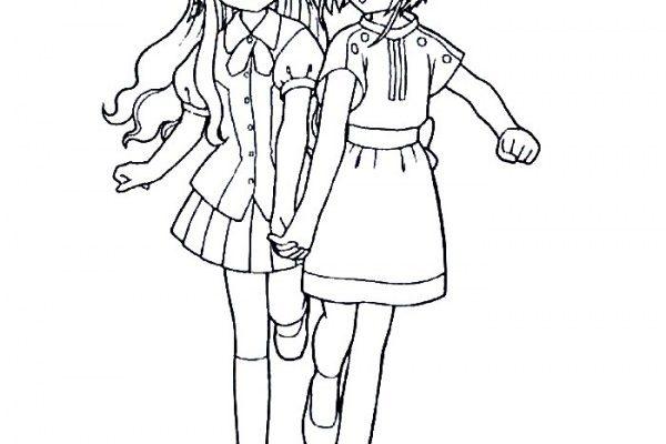 Dibujo Las mejores amigas