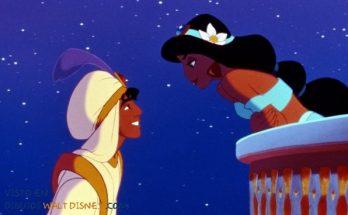 Dibujo Amor entre Aladdin y Jasmine
