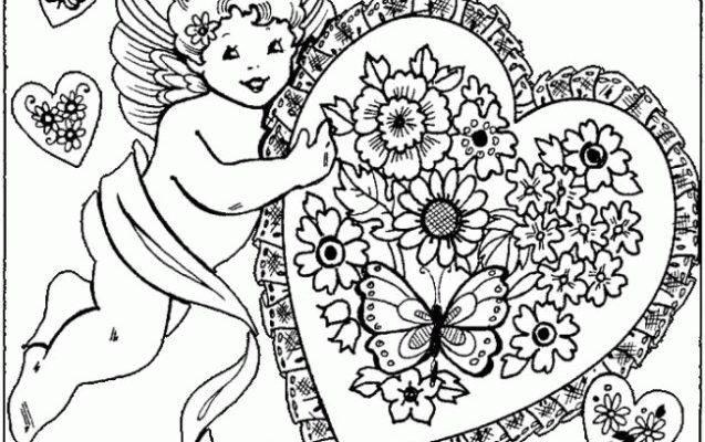 Dibujo Ángel con un corazón