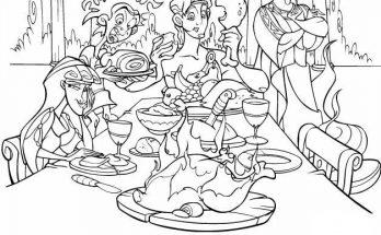 Dibujo Hercules de comilona