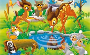 Dibujo Bambi y amigos