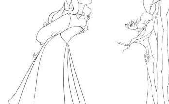 Dibujo Aurora observa los pájaros
