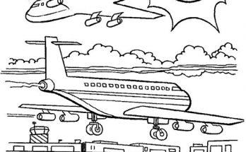 Dibujo Aviones para colorear