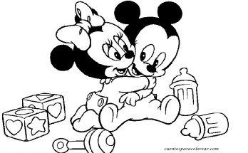 Dibujo Bebé Disney jugando con cochecito