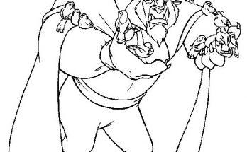 Dibujo Bella y Bestia bailando