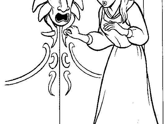 Dibujo Bella quiere abrir la puerta