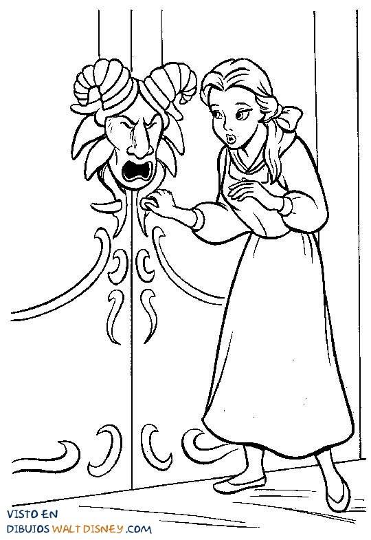 Bella Quiere Abrir La Puerta Dibujos Disney