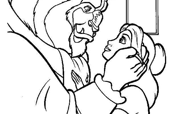 Dibujo Gesto romántico de Bestia hacia Bella