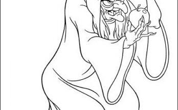 Dibujo Manzana envenenada