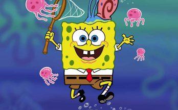 Dibujo Bob Esponja y las medusas
