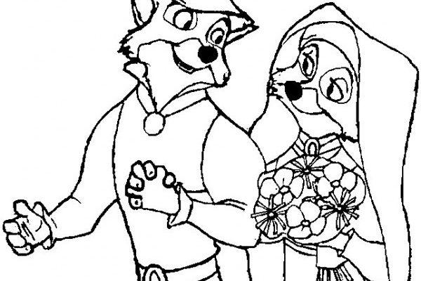Dibujo Boda Robin Hood y Lady Marian