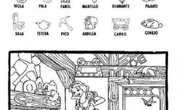 Dibujo Busca los objetos en casa de Blancanieves