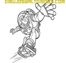 Dibujo Buzz patinando
