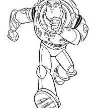 Dibujo Buzz corriendo