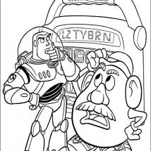 Dibujo Buzz y Mr Potato