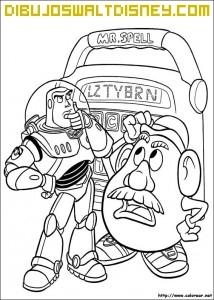 Dibujo Buzz y Mr Potato
