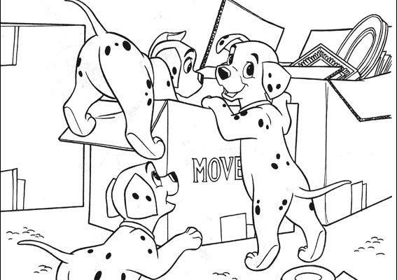 Dibujo Los cachorros de dálmata