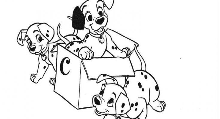 Dibujo Unos cachorros de dálmata