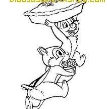 Dibujo Chip y Chop