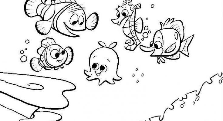 Dibujo Nemo empieza el cole