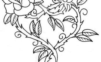 Dibujo Corazón hecho con rosas