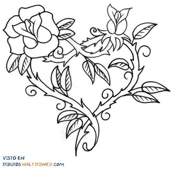 Corazón Hecho Con Rosas Dibujos Disney