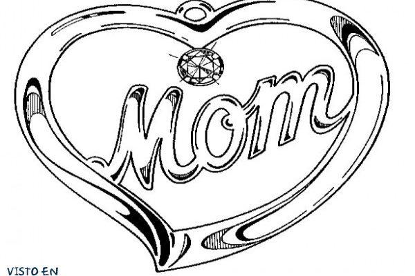 Dibujo Corazón para mamá
