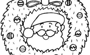Dibujo Corona navideña