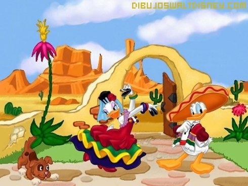 Dibujo Donald y Daisy en Mexico