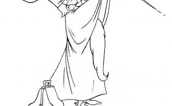 Dibujo Merlín haciendo magia