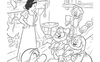 Dibujo Blancanieves y los siete enanitos