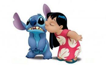 Dibujo Lilo y Stitch besandose
