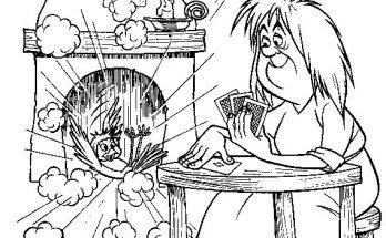 Dibujo Personajes de Merlín y la magia