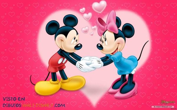 Dibujo El amor de Mickey