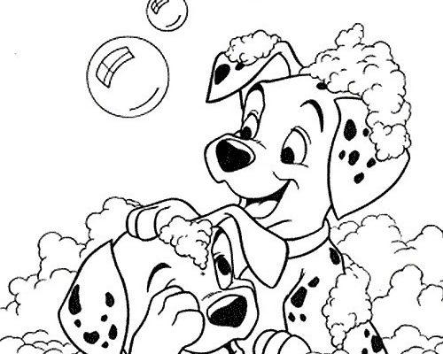 Dibujo Baño de burbujas de 101 Dalmatas