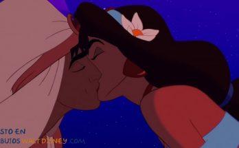 Dibujo El beso de Aladdín